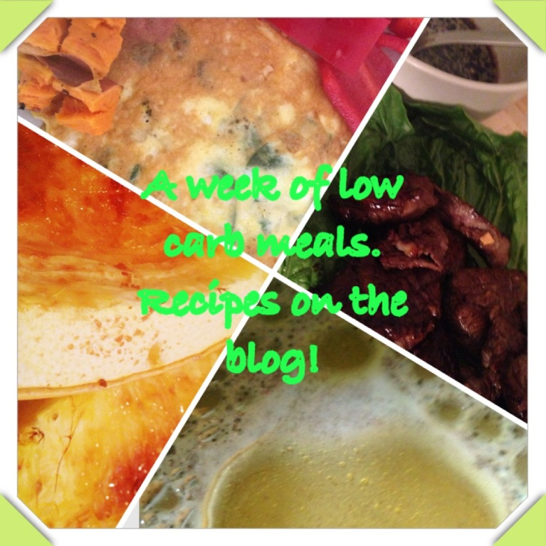 Low starch, low carb meals